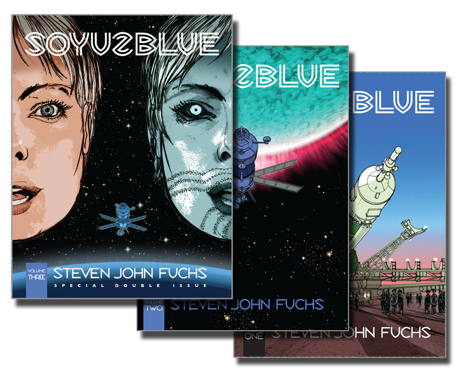 Soyuz Blue: a science fiction adventure novel in three volumes.